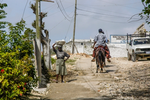 Traveling up and down this road was difficult no matter if you walked, rode a donkey or in a truck.